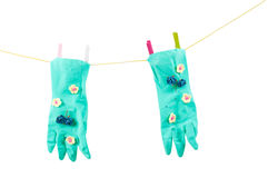 Conceptual photo with gloves Royalty Free Stock Photo