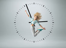 Conceptual photo of a human clock Royalty Free Stock Image