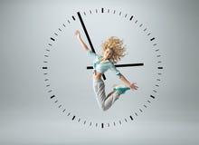 Conceptual photo of a human clock Royalty Free Stock Image