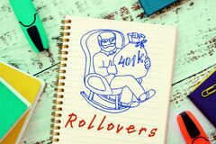 Conceptual photo about 401k Rollovers with handwritten text