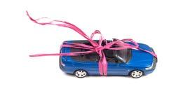 Conceptual photo with miniature car Royalty Free Stock Photos