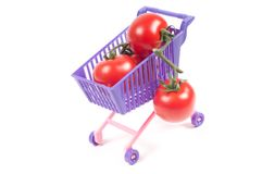 Conceptual photo with miniature shopping-cart Stock Photo