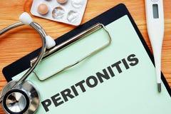 Conceptual photo showing printed text Peritonitis