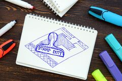 Conceptual photo about Stamp Duty j with sketch