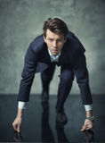 Conceptual photo of young businessman starting his career Royalty Free Stock Photography