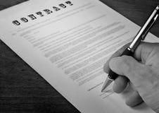 Conceptual photograph of contract signing Stock Photos