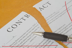 Conceptual photography of the cancellation of the contract Royalty Free Stock Image