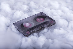 Conceptual photography cassette tape in sound cloud Stock Photo