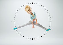 Conceptual picture of human clock Stock Photo