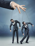 Conceptual picture of the human marionette Royalty Free Stock Images