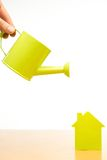 Conceptual picture of a little house Stock Photo