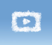Conceptual picture of shaped cloud Stock Photography
