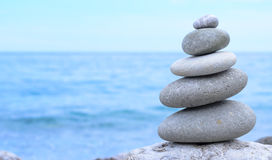 Conceptual Piled Stones in Perfect Balance Royalty Free Stock Photos