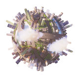Conceptual Planet city 3d rendering Royalty Free Stock Images
