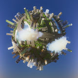Conceptual Planet city 3d rendering Royalty Free Stock Photos