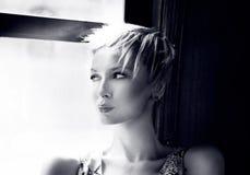 Conceptual portrait of blonde beauty. Stock Photo
