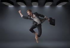 Conceptual portrait of a handsome successful businessman Stock Photography