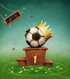 Ball on pedestal. stock illustration