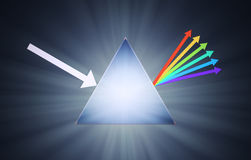 Conceptual prism illustration vector illustration