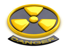 Conceptual radioactive sign Stock Images