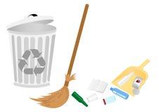 Conceptual recicle la ilustración con la escoba libre illustration