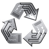 Conceptual Recycling Symbol Royalty Free Stock Photos