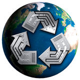 Conceptual Recycling Symbol Stock Photography