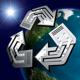 Conceptual Recycling Symbol Stock Images