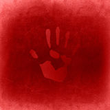 Conceptual red painted hand imprint Stock Image