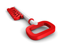 Conceptual red success key on white background Royalty Free Stock Photos