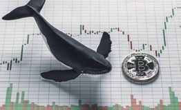 Bitcoin Whale Holder Conceptual Image stock photography