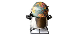 Conceptual representation of global warming Stock Photo
