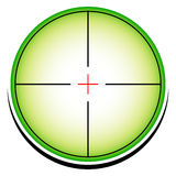 Conceptual reticle (crosshair) icon. Royalty Free Stock Photos