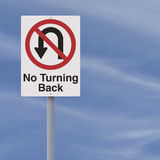 No Turning Back  Royalty Free Stock Images
