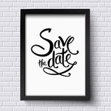Conceptual Save the Date Texts on a Frame royalty free illustration