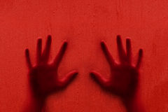 Conceptual scary blurred human hands background Stock Image