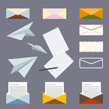 Conceptual set on the subject of postal letters Stock Photo