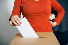 Conceptual Shot of Ballot Rigging Royalty Free Stock Photography