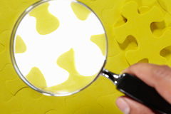 Conceptual shot with missing puzzle piece Royalty Free Stock Image