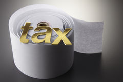 Conceptual shot about taxes Royalty Free Stock Photography