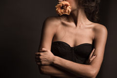 Conceptual shot about woman body's beauty Royalty Free Stock Images