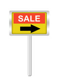 A conceptual sign on sale isolated on white Stock Image