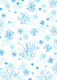 Conceptual snow flakes Stock Photo