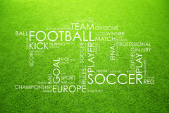 Conceptual soccer game words composed cloud Royalty Free Stock Photos