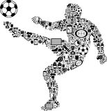 Conceptual Soccer Player. This is a conceptual soccer player made with different icons Royalty Free Stock Photography