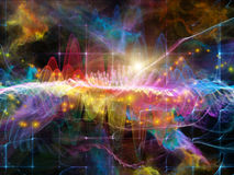 Conceptual Sound Wave Stock Photography
