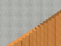 Stair on wall background building or architecture. Conceptual stair on wall background building or architecture as metaphor to business success, growth, progress Royalty Free Stock Images