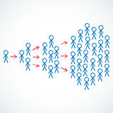 Conceptual: Stick figures depicting viral marketin Stock Images