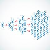 Conceptual: Stick figures depicting viral marketin Stock Images