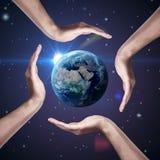 Conceptual symbol of the Earth Stock Photo
